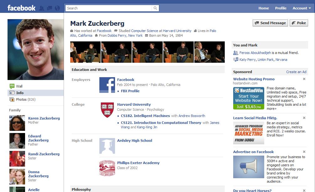 facebook layout