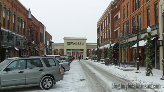 Light snow is falling in the downtown Wausau Area Today