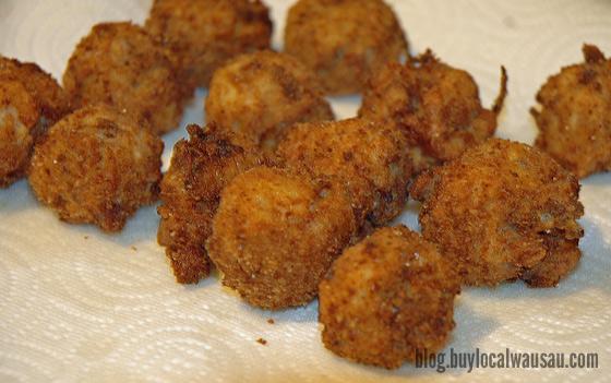 Deep fried sauerkraut balls