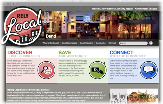 Relylocal v2.0 Preview screen buylocal wausau