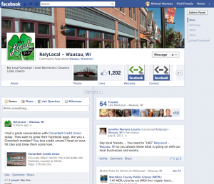 Facebook new business page timeline wausau