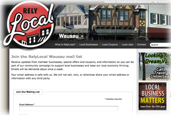 Relylocal Wausau email distribution list