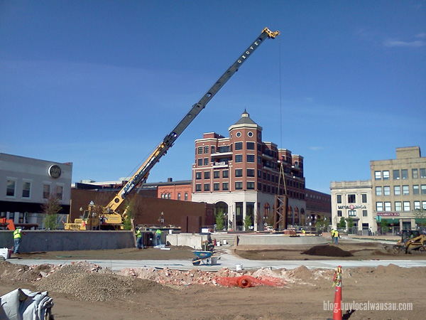 Wausau 400 block city square construction stage