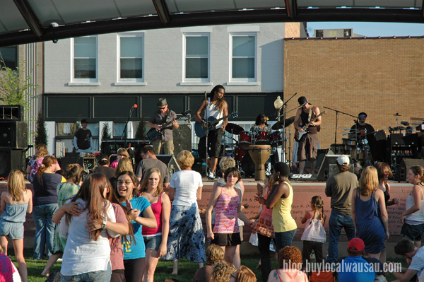 Concert on the square wausau unity
