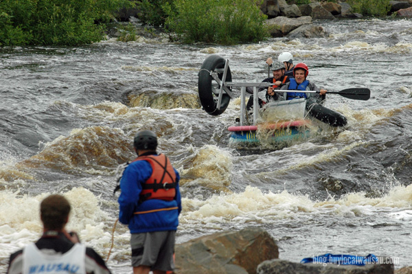 Wausau River Fest kayak white water hooligan race
