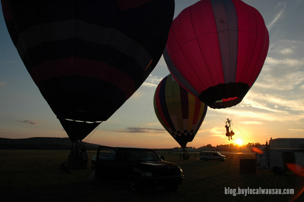 Wausau Balloon Rally sunset area events buy local