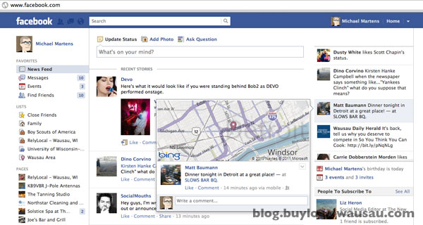 Facebook new features news ticker