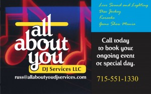 All About You DJ Service Wausau WI wedding special events