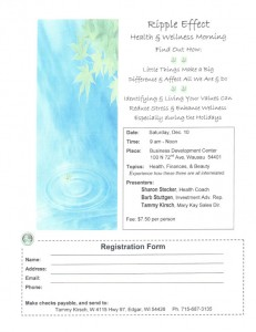 Ripple Effect Health and Wellness Morning Wausau