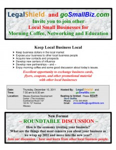 Keeping Local business local december 2011 wausau networking