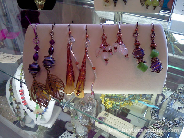 Art metal earring classes stoned and wired wausau