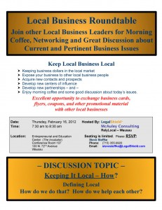 Keep business local relylocal wausau networking group