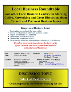 Local Business Roundtable Wausau April