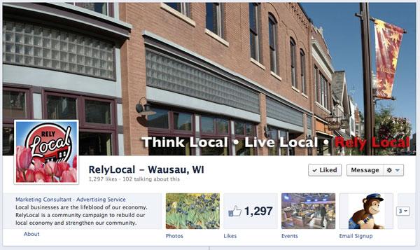 Facebook business page timeline