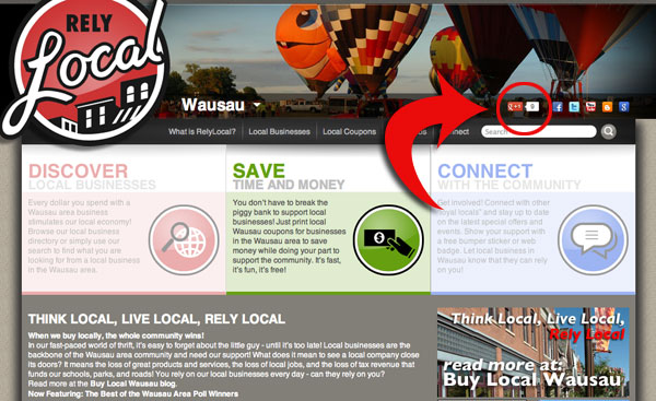 Google Plus 1 button relylocal wausau