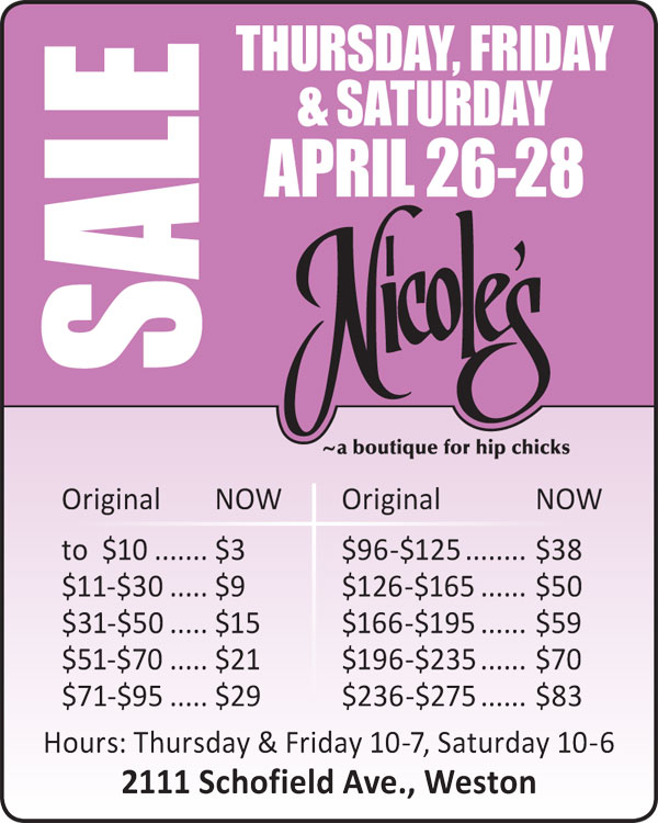 Nicole's Clearance Sale