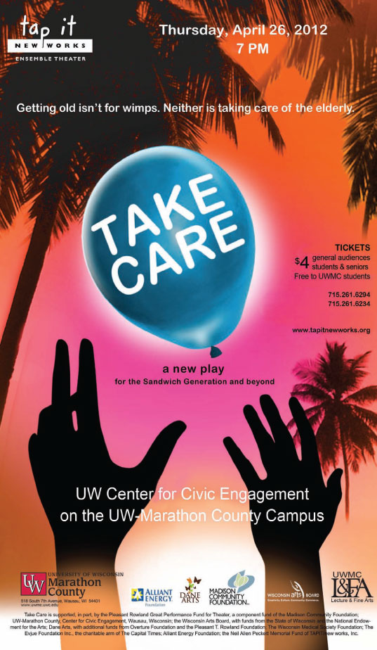 Take Care play by Tap It new works UWMC wausau