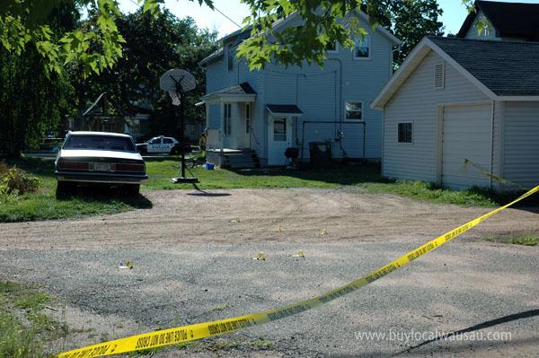 Gunshots bullet holes prospect street wausau