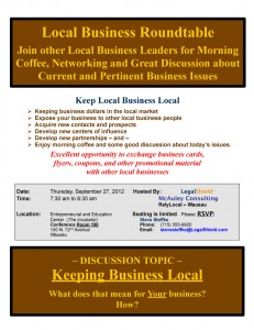 Local Business Roundtable September 2012