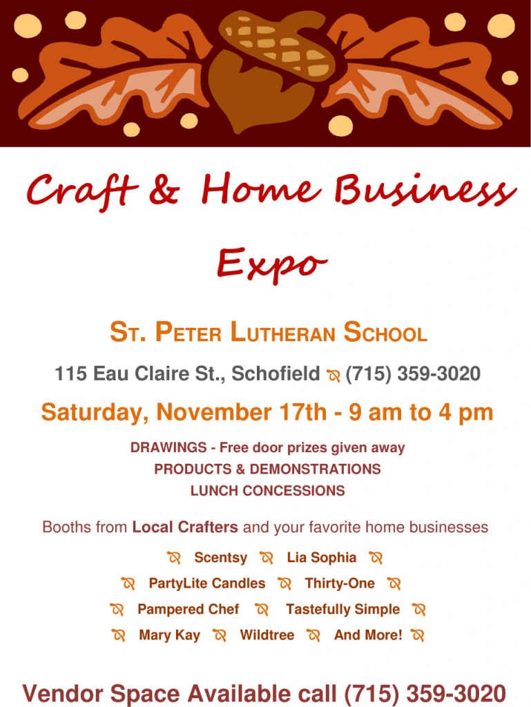 St peter s school schofield holiday craft fair wausau for Michaels crafts wausau wi