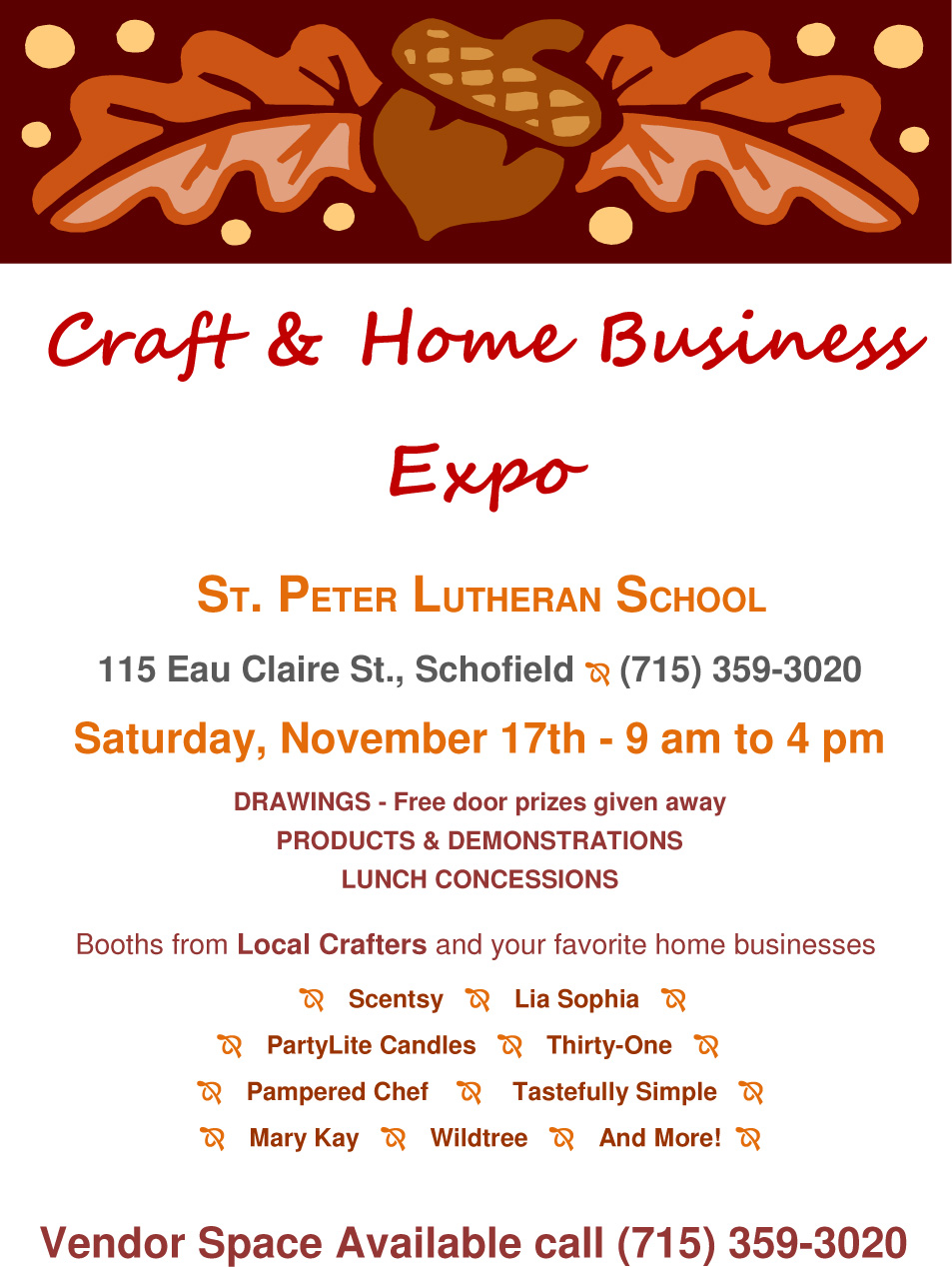 St. Peter's School Schofield Holiday Craft Fair