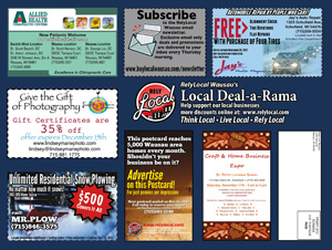 RelyLocal wausau local deals postcard deal-a-rama