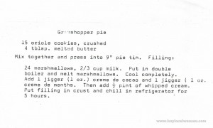 Classic grasshopper pie recipe