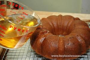 rum-soaking-cake