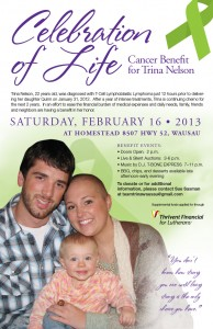 Celebration of Life Cancer benefit wausau trina nelson