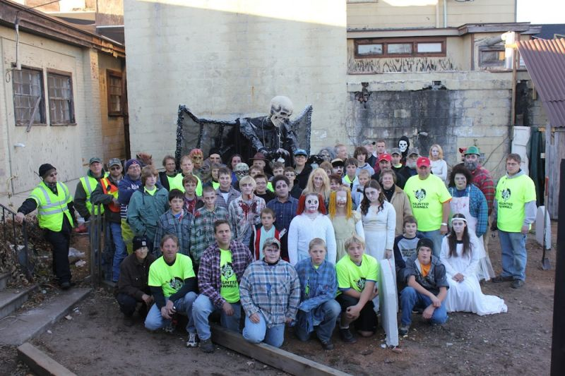 Volunteers of Boy scout Troop 599 that make The Haunted Sawmill a success.
