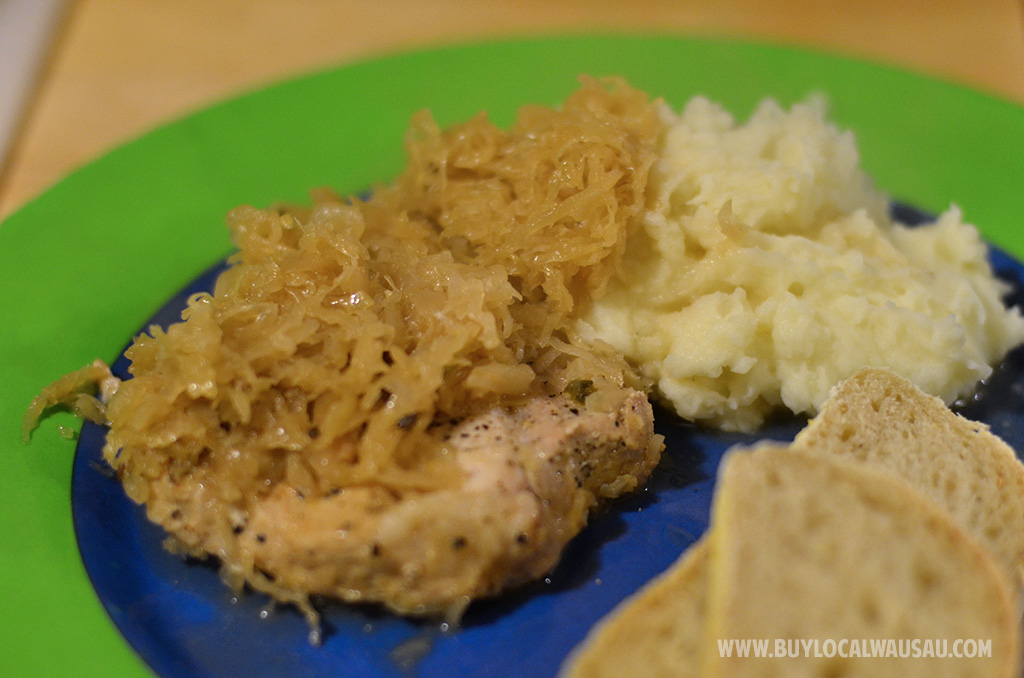 Braised Pork Chops and Sauerkraut