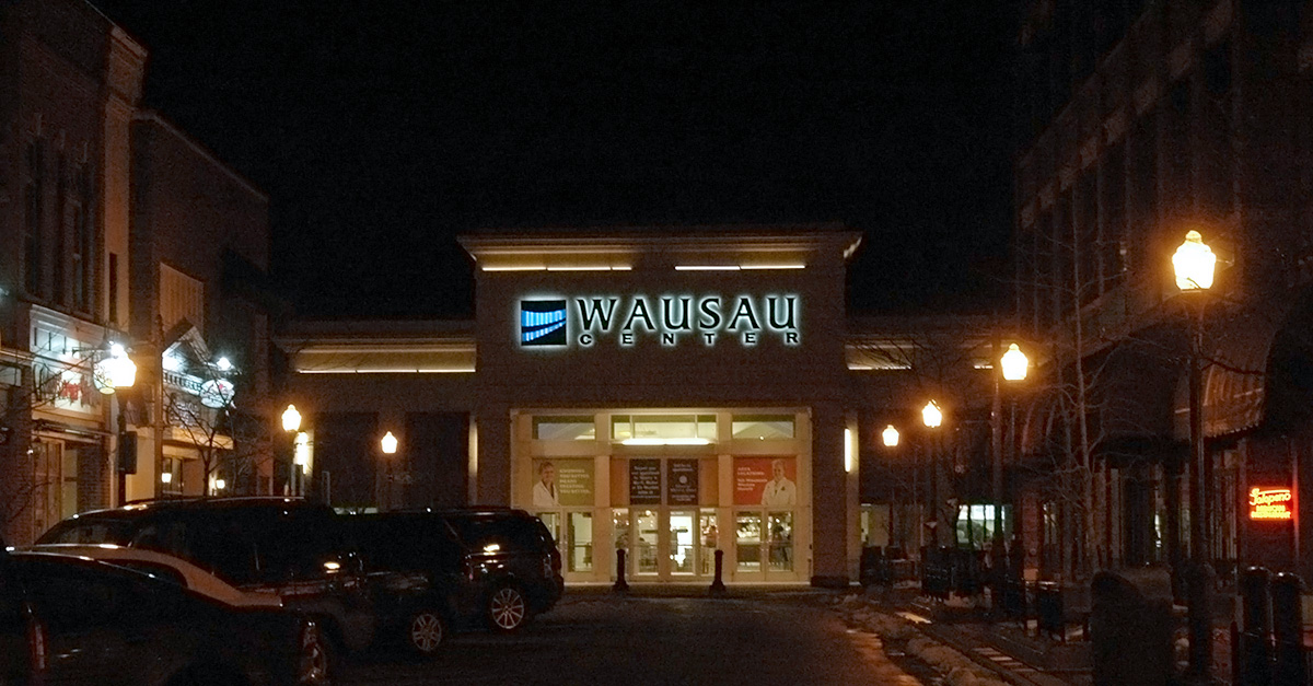 Wausau-Center-at-night