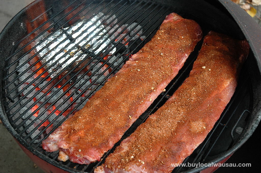 Pork-ribs-on-the-grill