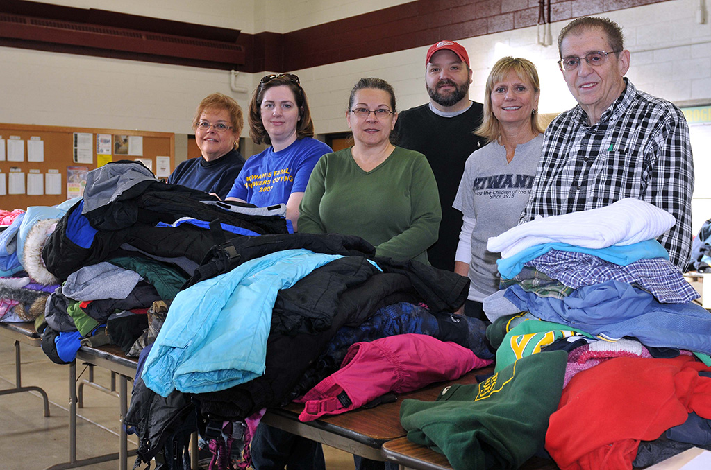 Wausau Noon Kiwanis Coats for Kids Drive on